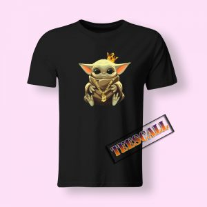 Baby Yoda The King of Bitcoin Tshirts