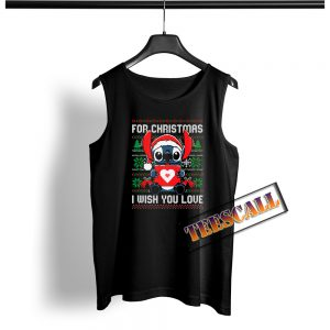 Christmas Stitch Wish You Love Tank Top