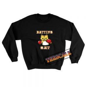 Batting-Cat-Sweatshirt-Black